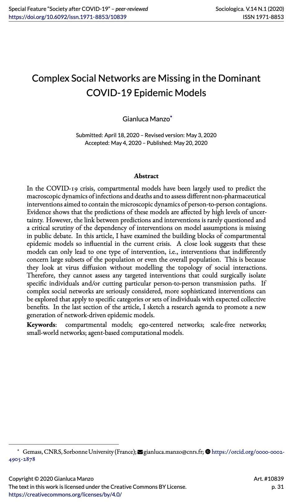 """""""Complex Social Networks are Missing in the Dominant COVID-19 Epidemic Models"""""""