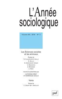<i>Les sciences sociales et les animaux</i>